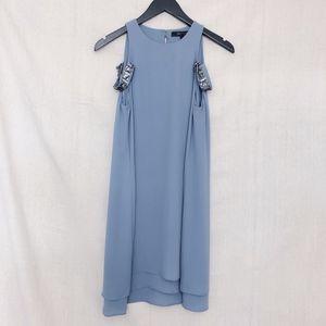BCBG Periwinkle Layered Dress w/ Rhinestone detail
